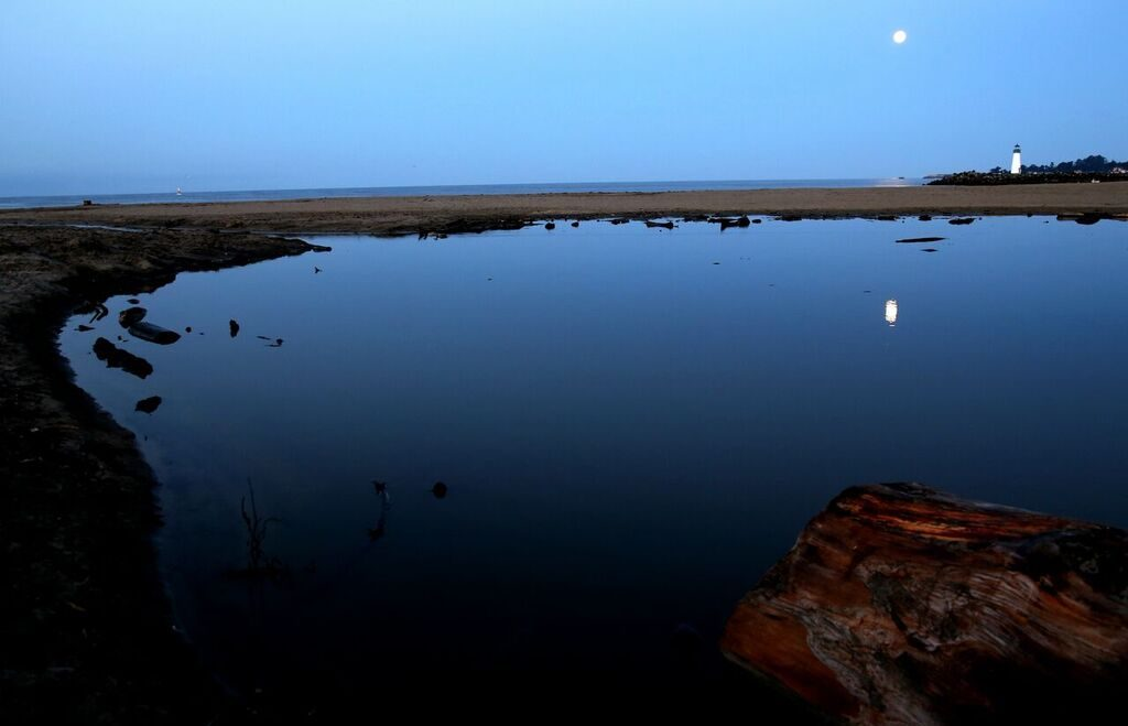 Twin Lakes moon